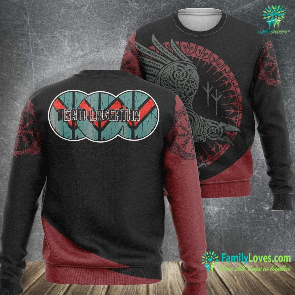 Viking Hatchet Vikings Shieldmaiden Norse Shield Wall Team Lagertha Viking Sweatshirt All Over Print Familyloves.com