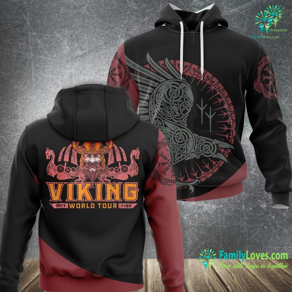 Viking Protection Symbol Viking World Tour Viking Unisex Hoodie All Over Print Familyloves.com