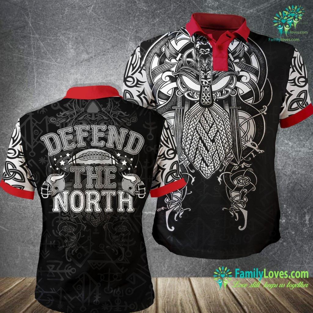 Viking Runes Minnesota Defend The North Viking Premium Viking Polo Shirt All Over Print Familyloves.com