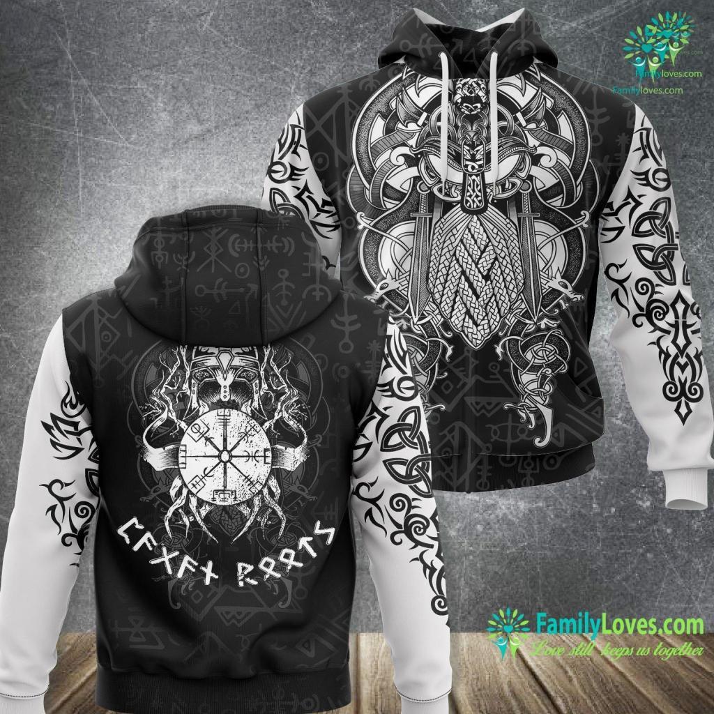 Viking Shield Designs Pagan Roots Viking Celtic Norse Viking Unisex Hoodie All Over Print Familyloves.com