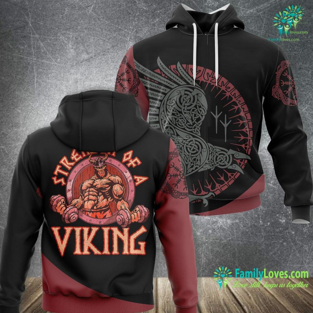 Were There Black Vikings Vikings Strength Of A Viking Funny Quotes Norse Humor Gift Viking Unisex Hoodie All Over Print Familyloves.com