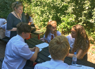 Dr Elizabeth McNaught planning with Romsey School pupils 10th July 2018 - thumbnail
