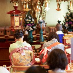 中山寺 お宮参り 祈祷風景