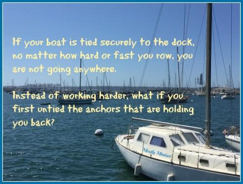 Untie your boat