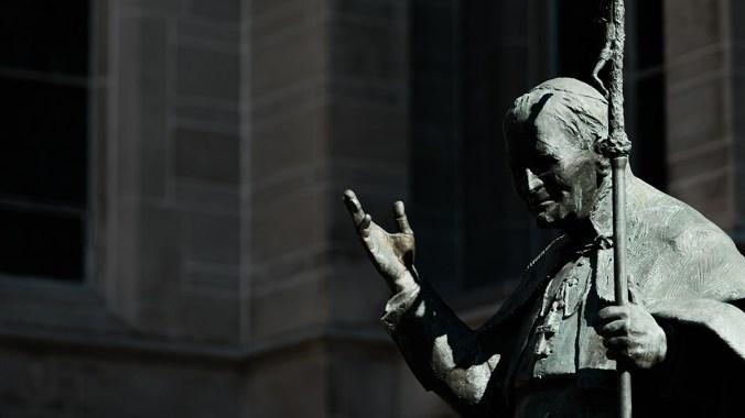 Pope John Paul II ordains priests in Manchester in 1982