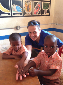 Dr Carmen Treating Patients in Haiti