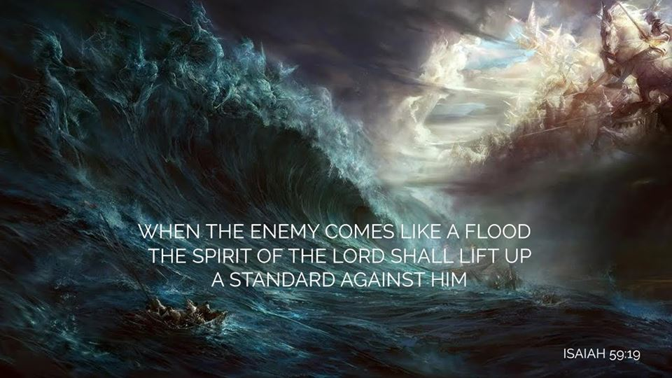 Image result for the spirit of the lord shall lift up a standard against him