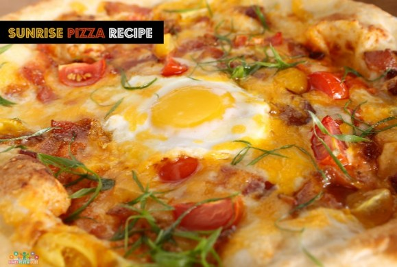 breakfast sunrise pizza