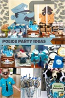 Police Birthday Party for 4 Year Old Boy