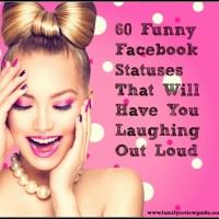 60 Funny Facebook Statuses