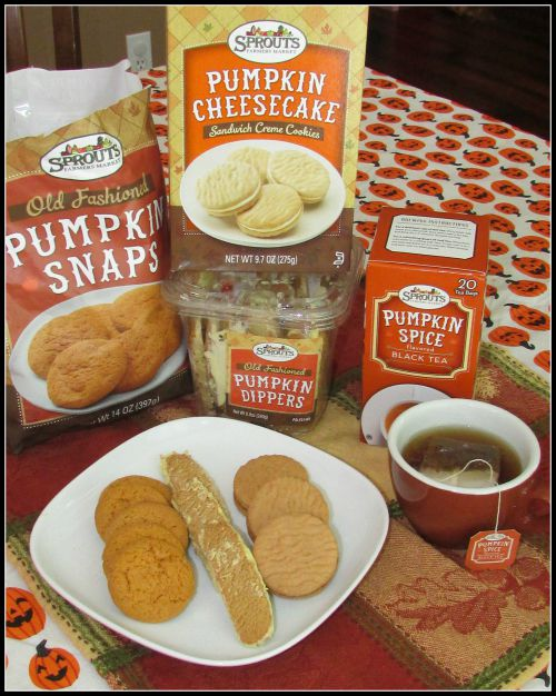 Sprouts Farmers Market Pumpkin Cookies and Tea