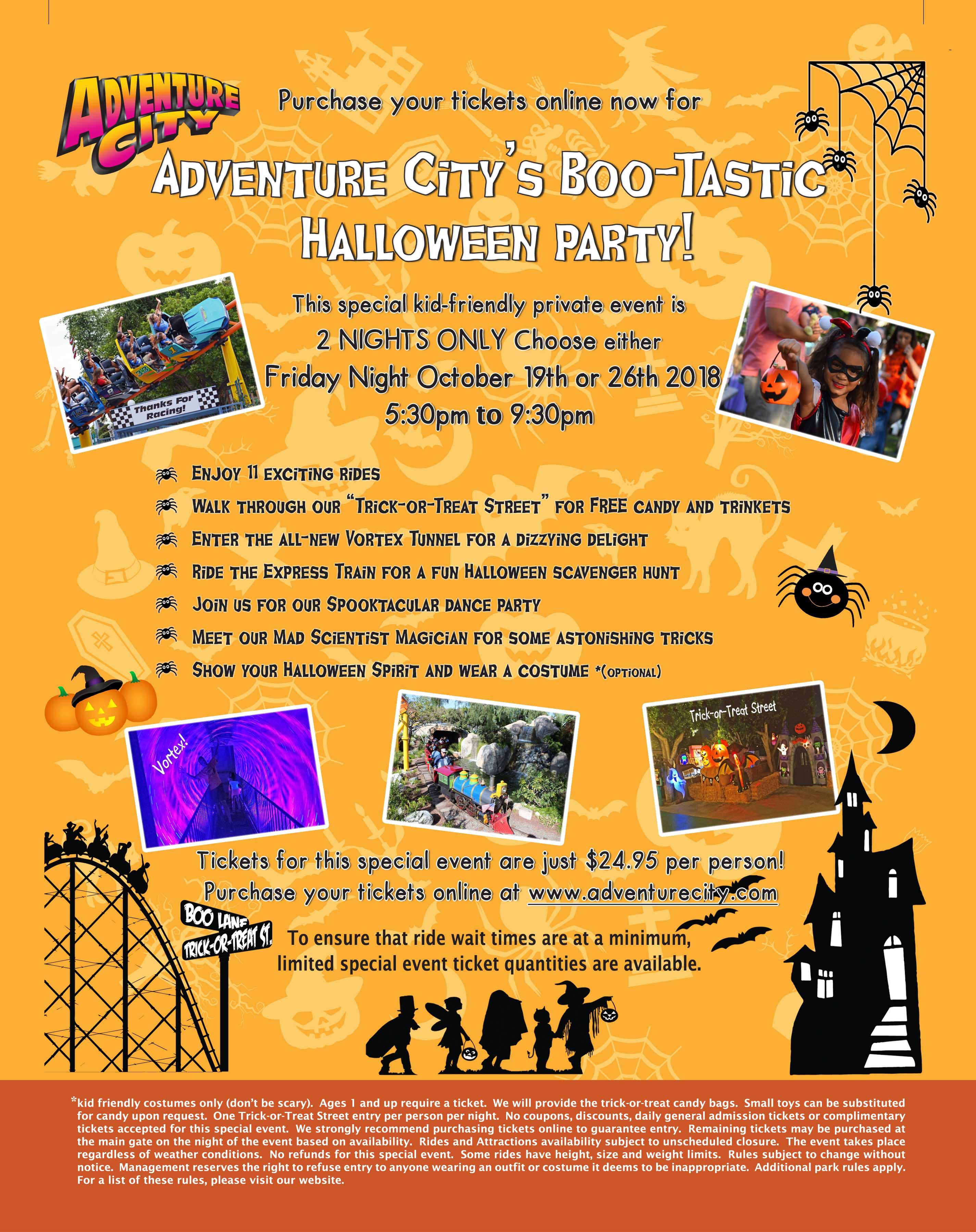 Boo-Tastic Halloween 2020, October 26 Adventure City's Boo Tastic Halloween Party + Win Tickets   Family
