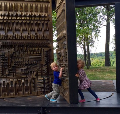 this may take a while. Arnaldo Pomodoro's The Pietrarubbia, one of the interactive pieces, Storm King