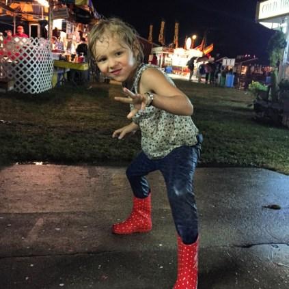 Brooklyn celebrating the rain, Franklin County Fair, MA
