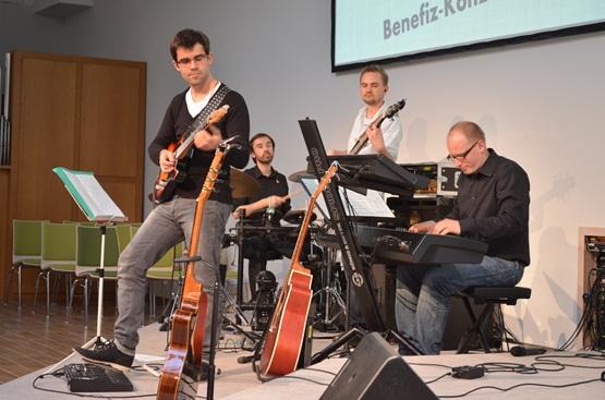 Die Band: Florian, Robert, Micha und Thorsten