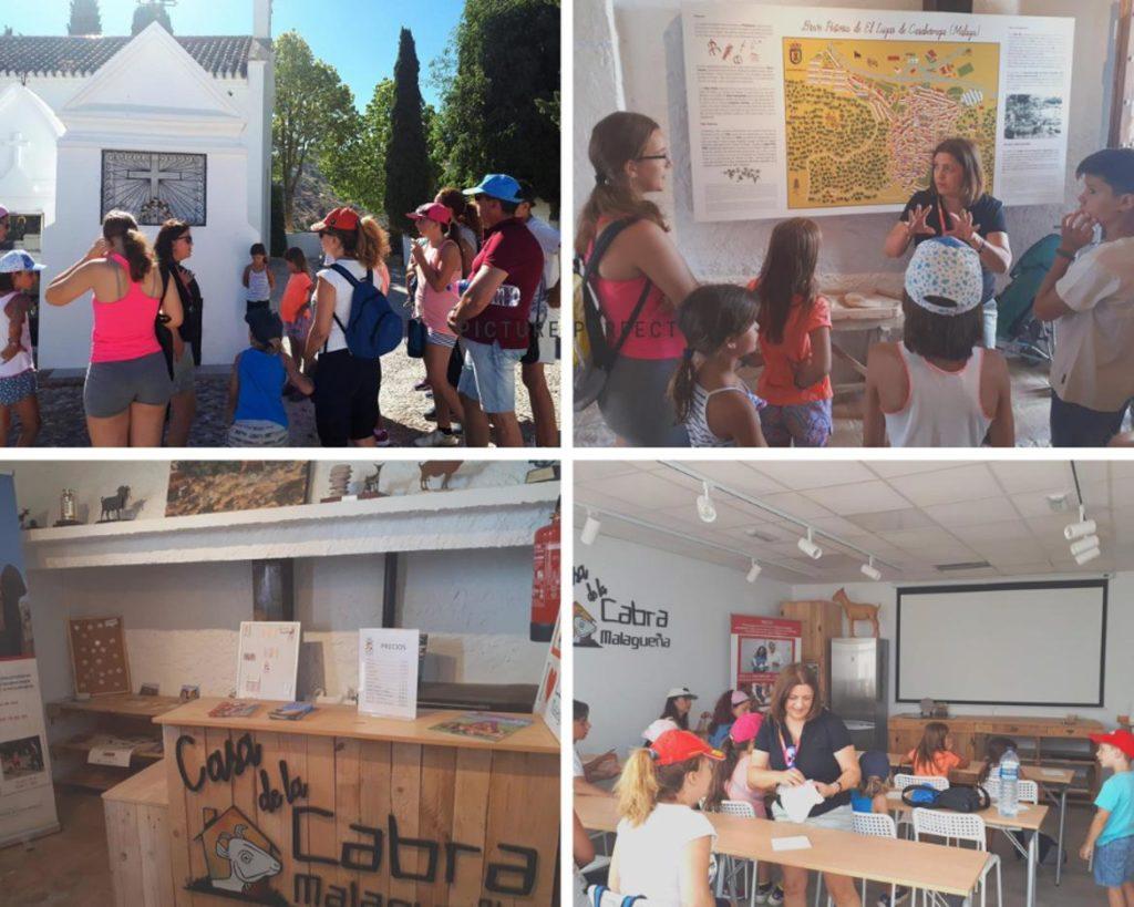 Collage fotos de actividades en la Ruta de la Cabra malagueña en Casabermeja, Málaga