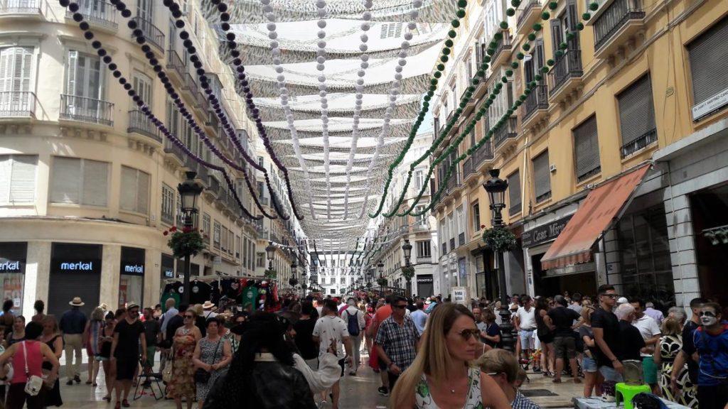 La calle Larios durante la Feria de Málaga