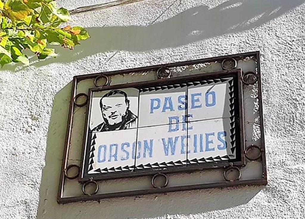 Cartel Paseo de Orson Wells en Ronda, Málaga