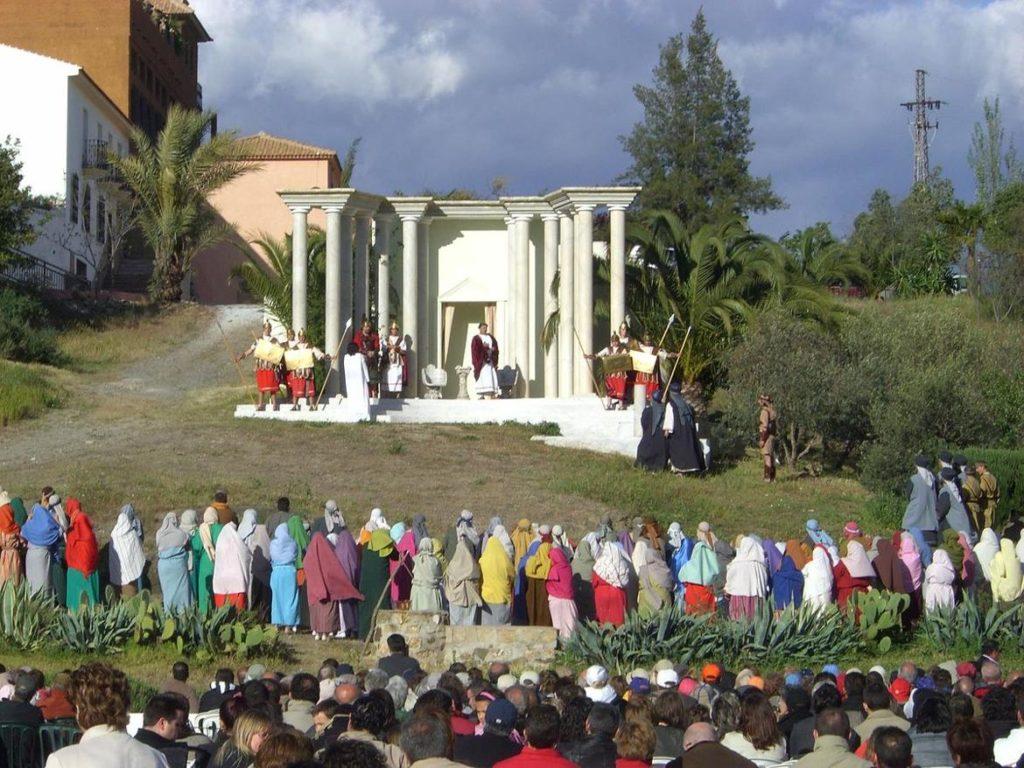 Paso de Riogordo en la Semana Santa de Riogordo en Málaga