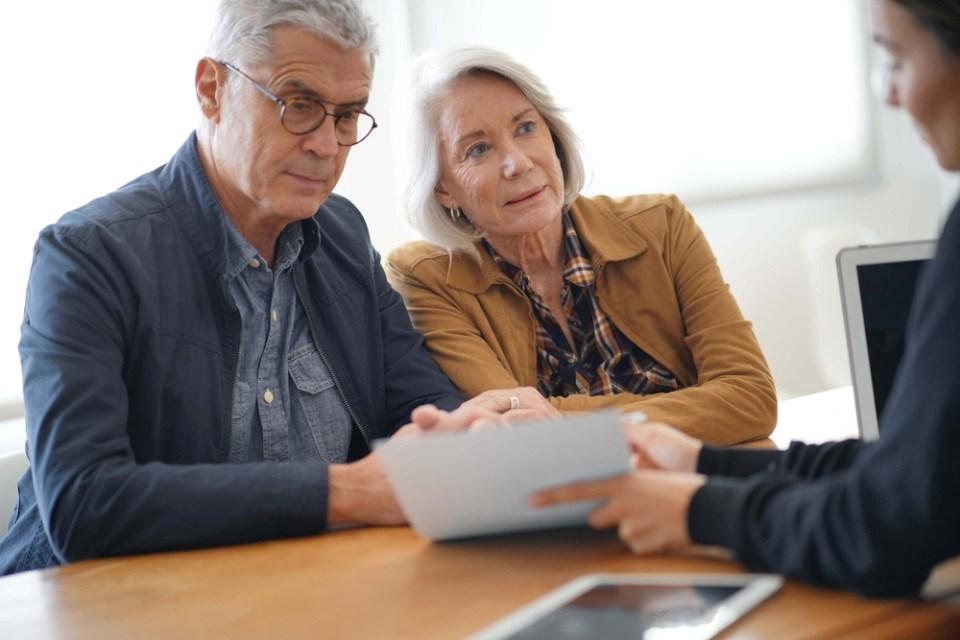 senior couple filing long term care insurance claim