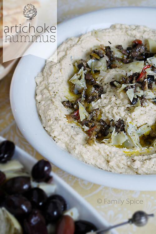Italian Artichoke Hummus by Familyspice.com