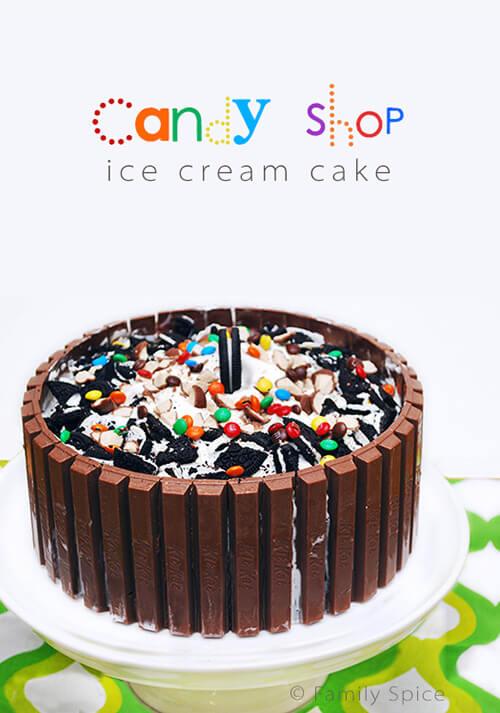 Candy Shop Ice Cream Cake