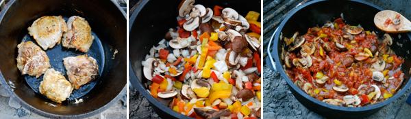 Dutch Oven Recipes: Campfire Chicken Cacciatore by FamilySpice.com