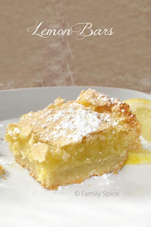 Decadent and Easy Lemon Bars by FamilySpice.com