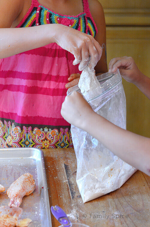 Prep for Oven Fried Chicken by FamilySpice.com