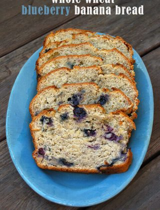 Whole Wheat Banana Bread with Blueberries