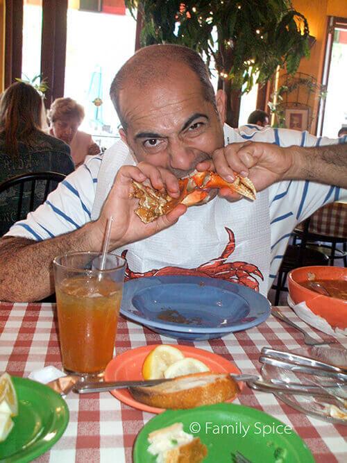 Enjoying Ciopinno from Ciopinno's Restaurant by FamilySpice.com