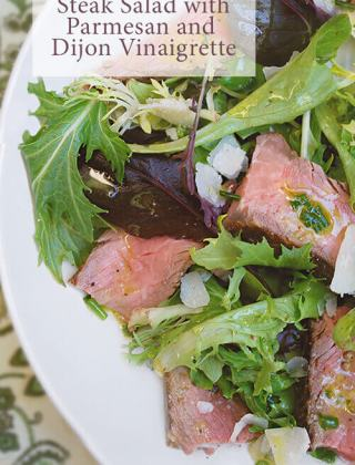 Steak Salad with Parmesan and Dijon Vinaigrette