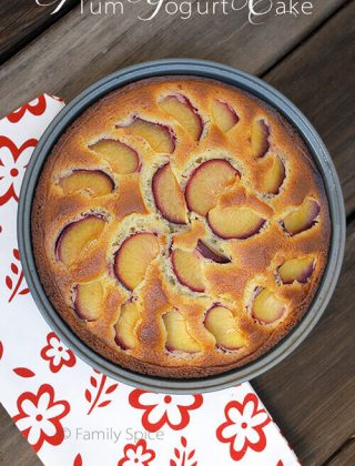 Plum Yogurt Cake