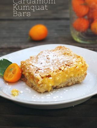 Cardamom Kumquat Bars