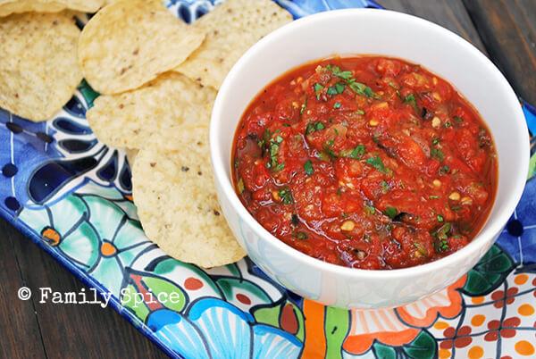 Roasted Tomato Salsa by FamilySpice.com