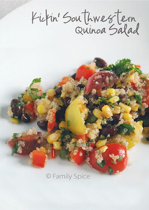 Kickin' Southwestern Quinoa Salad by FamilySpice.com