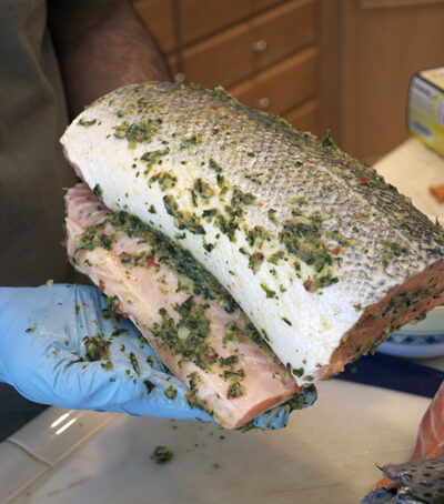Easy Grilled Fish with Fresh Herbs