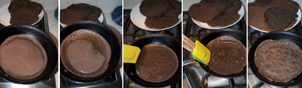 How to Make Dark Chocolate Crepes with Blueberry Cream by FamilySpice.com