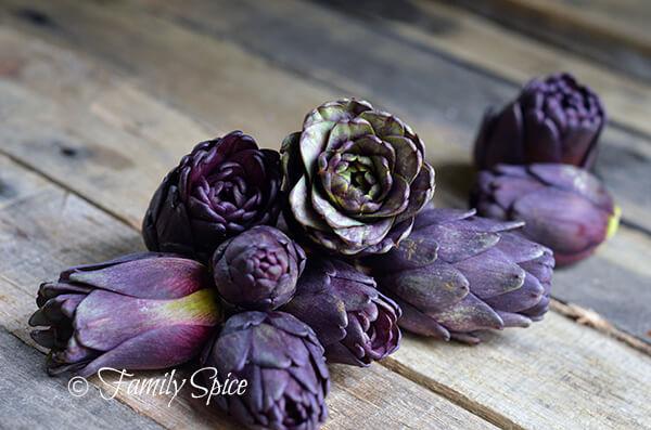 Fiesole Baby Purple Artichokes by FamilySpice.com