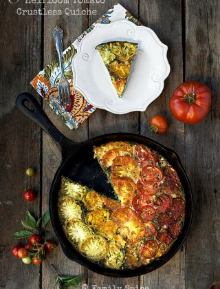 Summer Harvest: Kale and Heirloom Tomato Crustless Quiche
