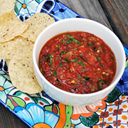 Oven Roasted Tomato Salsa by familyspice.com