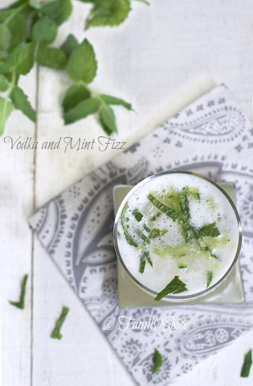 Vodka and Mint Fizz by FamilySpice.com