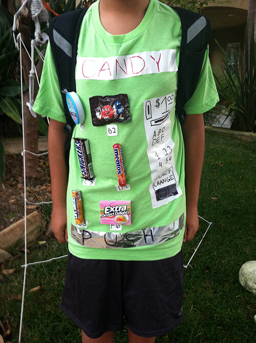 Halloween Costume: Vending Machine T-shirt by FamilySpice.com