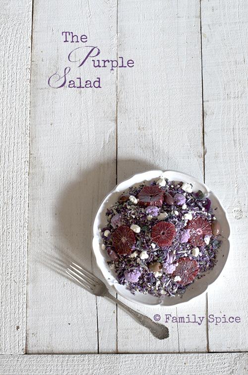Eat the Rainbow: The Purple Salad by FamilySpice.com