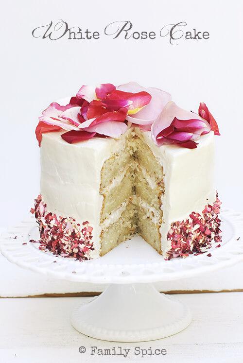 White Rose Cake by FamilySpice.com