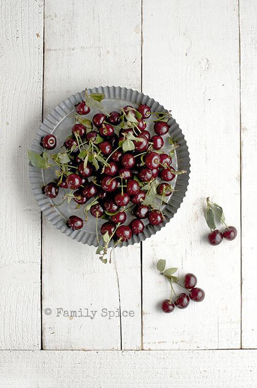 Sour Cherries for Sour Cherry Jam (Moraba Albaloo) by FamilySpice.com