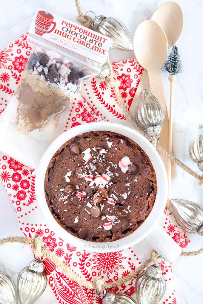 peppermint chocolate mug cake free