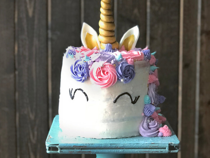 How To Make A Unicorn Cake With Rainbow Layers Family Spice