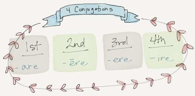 4 latin conjugations