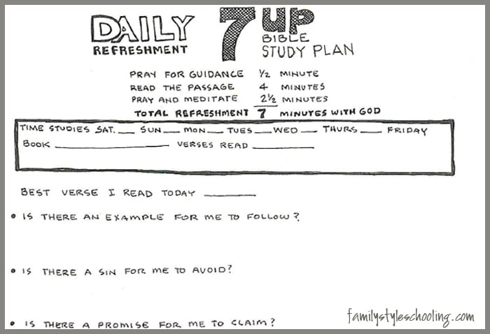 Daily 7up Refreshment Bible Study